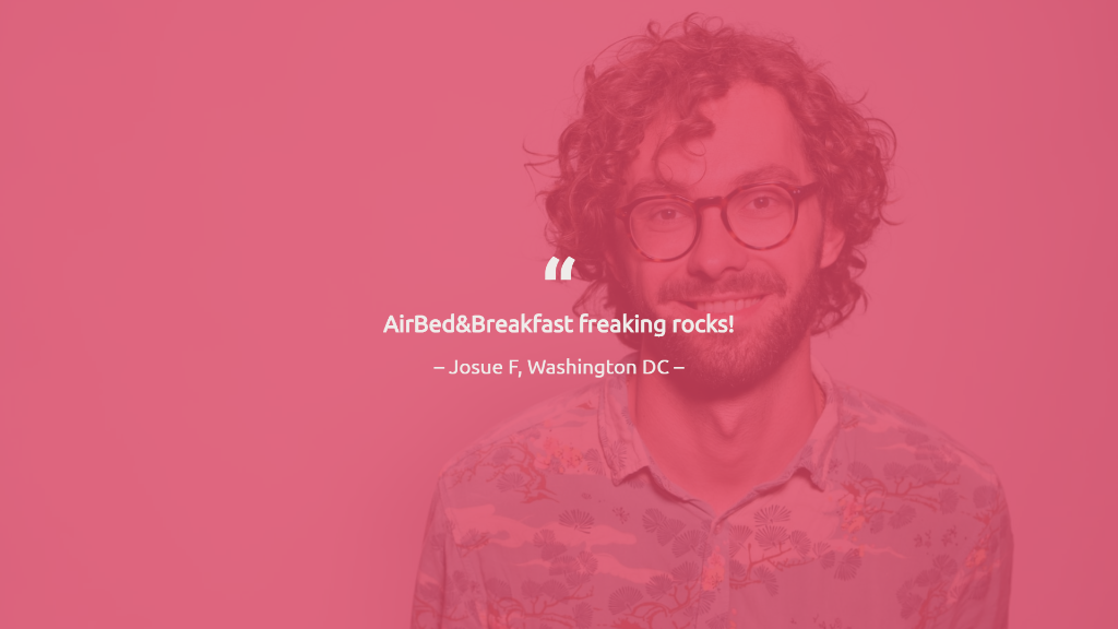 Airbnb Pitch Deck Testimonial Slide