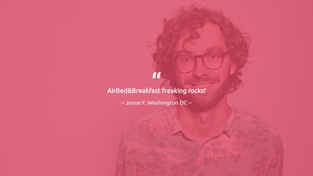 Airbnb Pitch Deck Testimonial Slide