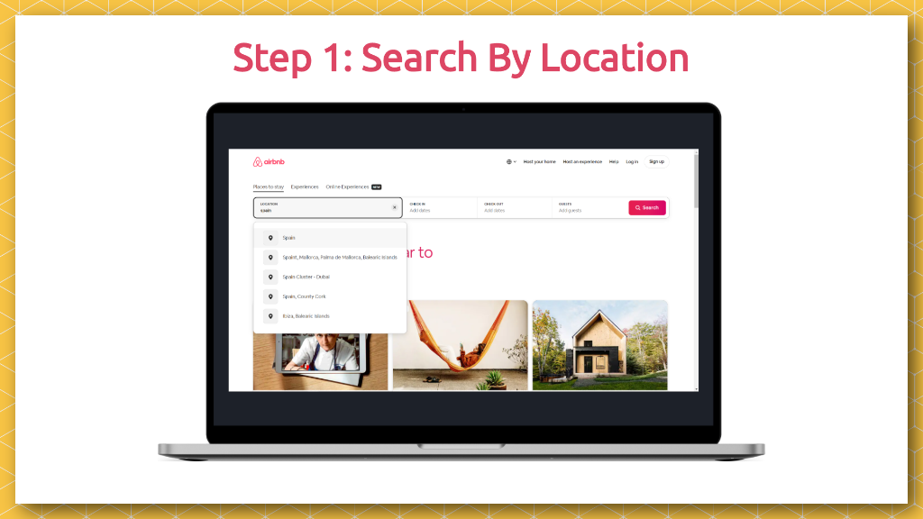 Airbnb Pitch Deck How It Works Slide