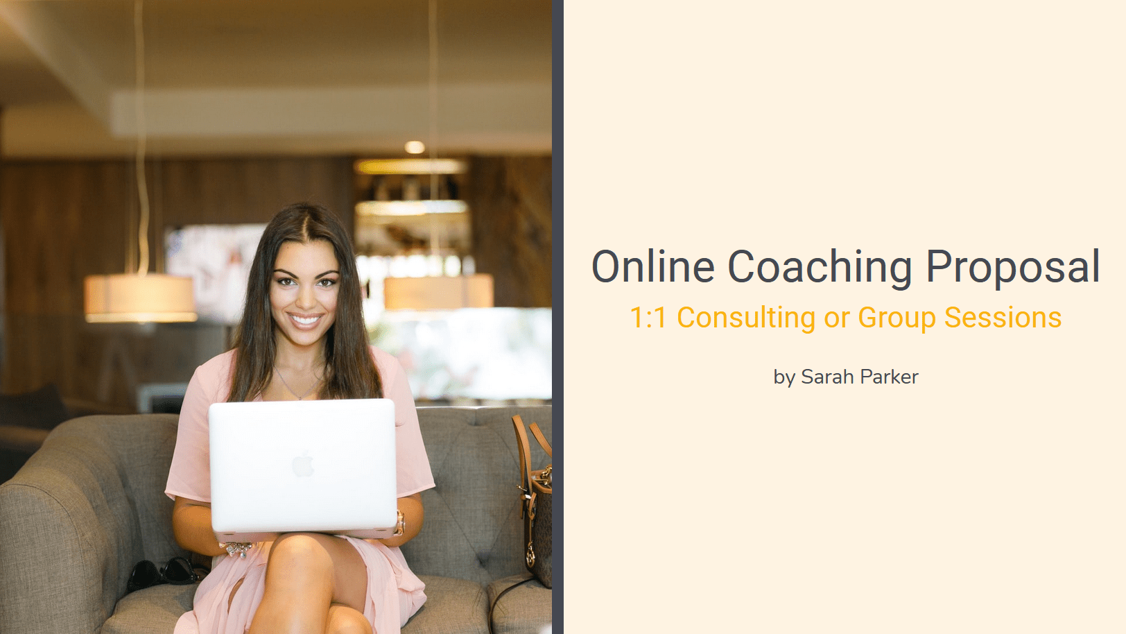 Convey the benefits of your coaching package, terms and conditions and invoicing details. Explain why you are the go-to coach for the job and why you can deliver the content scope better than anyone else.