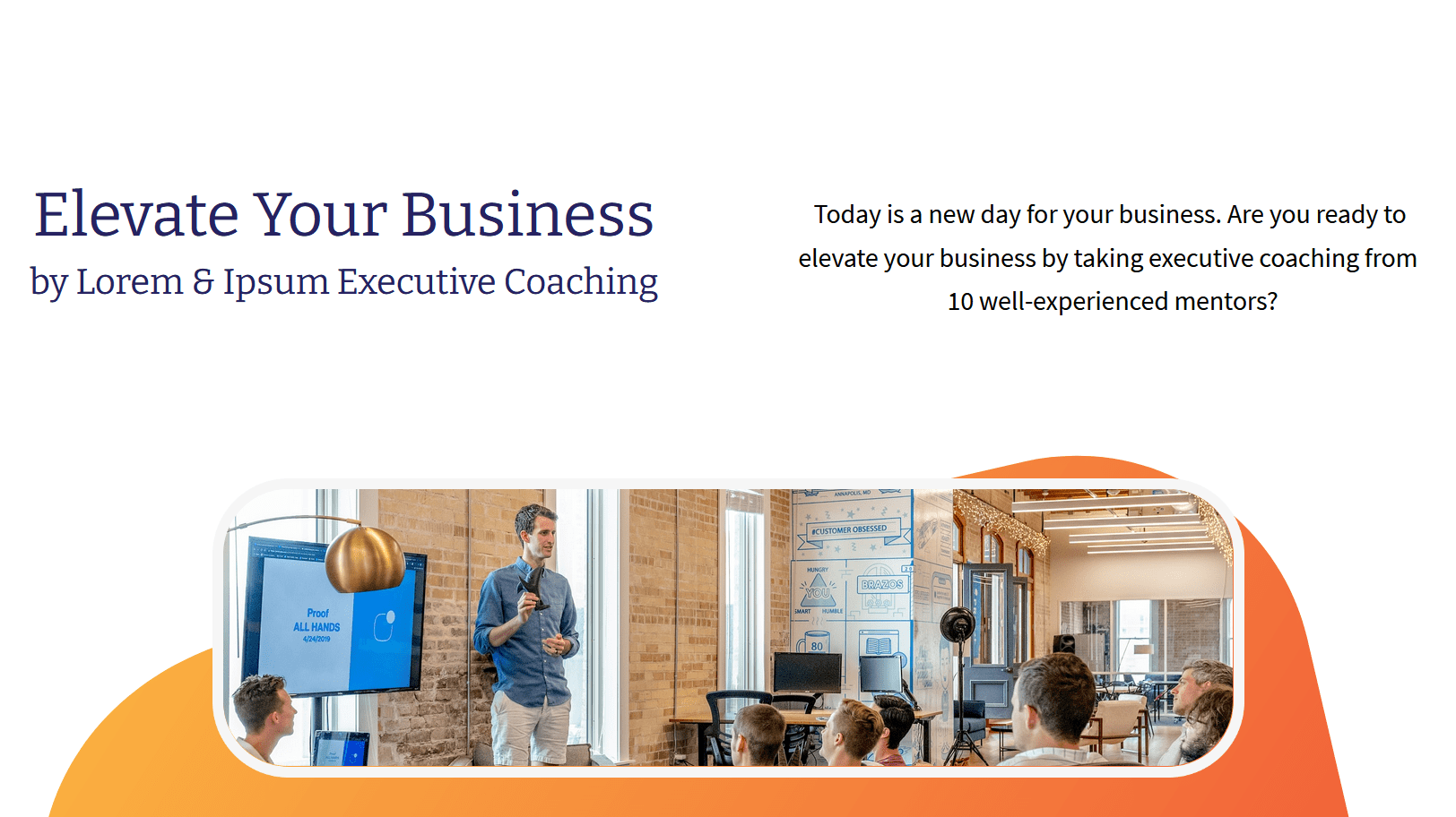 Outline what your coaching will provide, your value proposition, action plan and general introduction. Explain why you are the go-to coach for the job and why you can deliver the content scope better than anyone else.