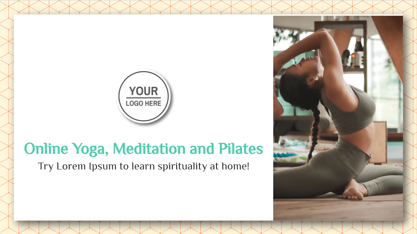 Outline the benefits you can get from a meditative online yoga course; let your students boost their mindfulness, core strength, flexibility, psychological endurance, while offering what your course content in yoga will entail. Namaste!