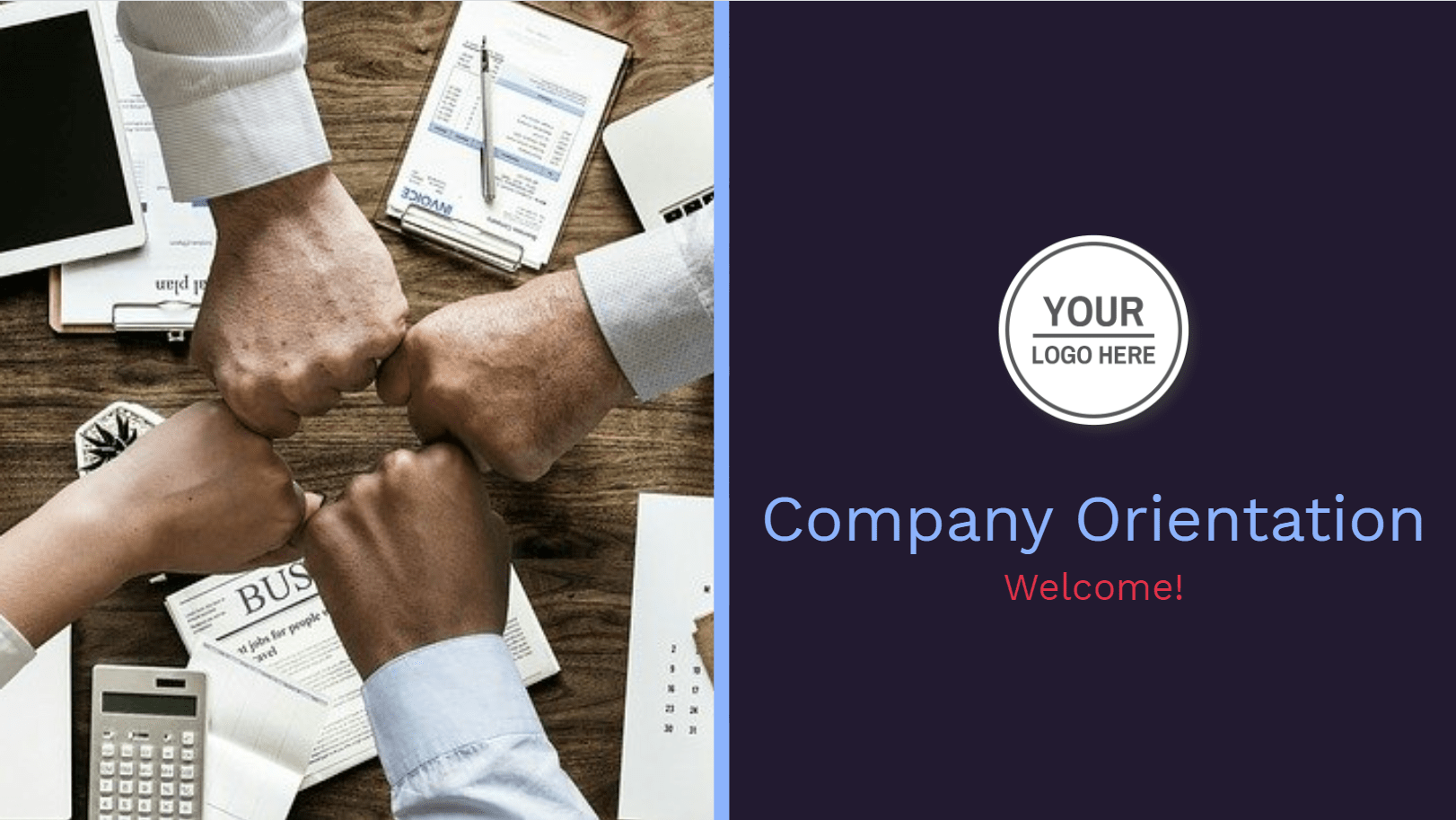 This template can be used during company orientation conferences, pre-conference summaries, or just as a printable document. To kickstart the meeting by describing the company, culture, and facilities. The templates prepared on Decktopus are fully customizable according to the company branding like logo, color palettes, and fonts.