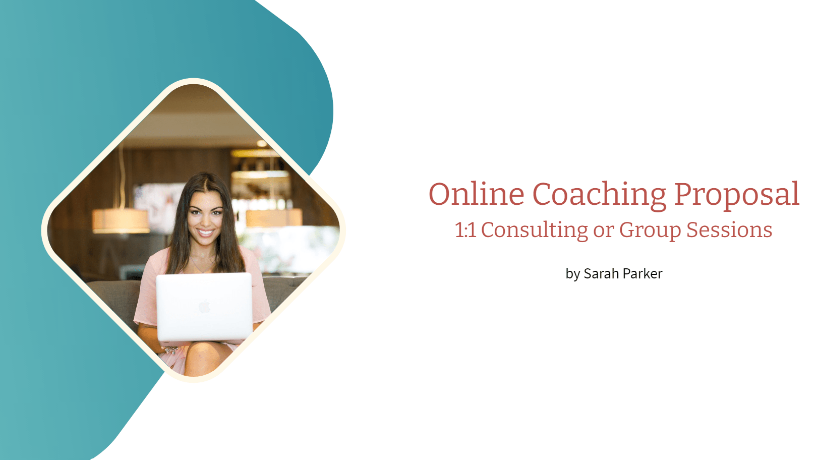 An online coaching proposal template is prepared for coaches that are looking for templates to advertise and generate leads. By using this template coaches can introduce their services, offer their packages and collect contact information of the possible clients.