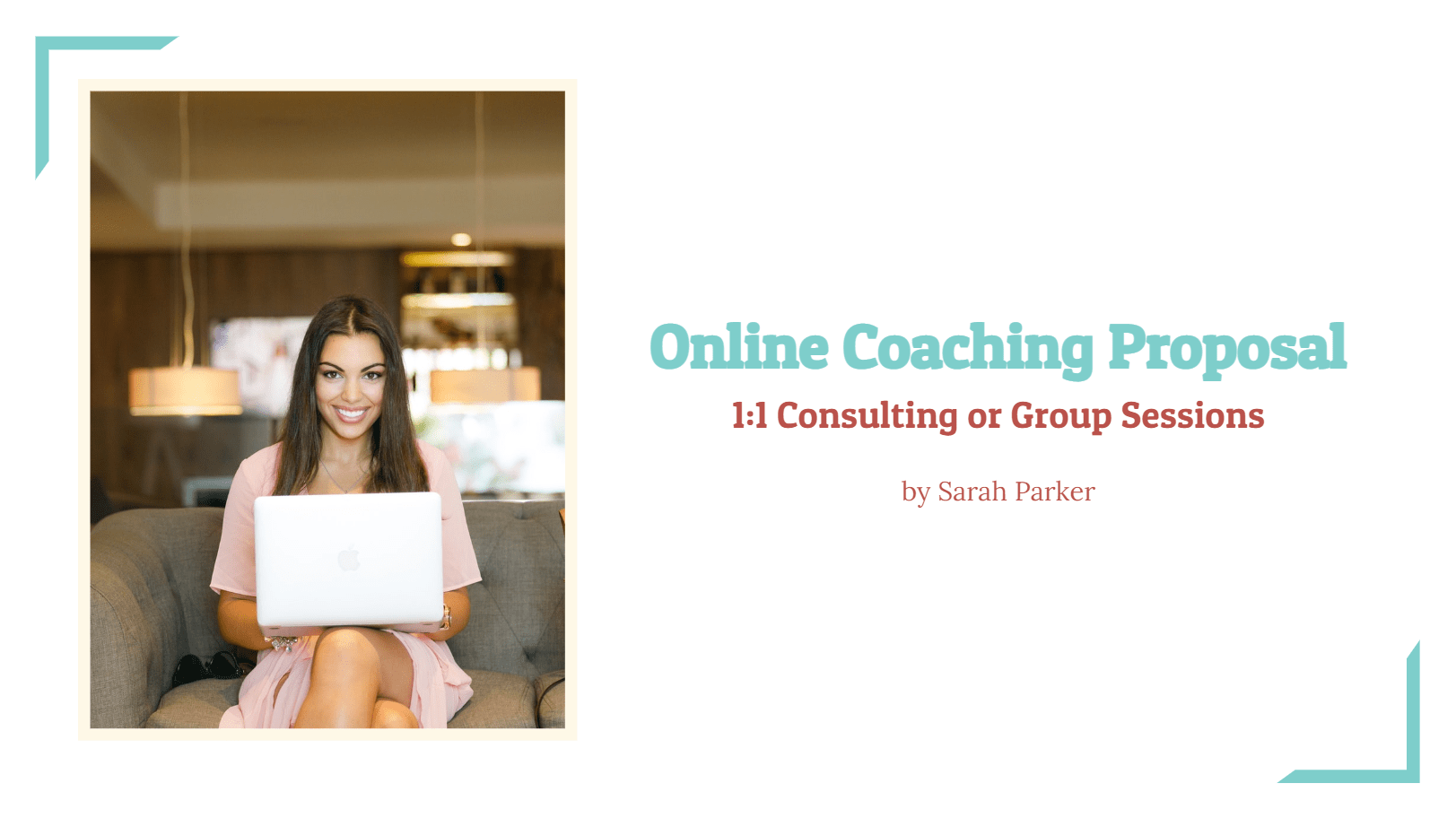 This online coaching proposal template is perfect for coaches that are trying to close a deal with their customers easily. With the form layout, they can generate leads and create a list of potential clients to further marketing. By using this template they can introduce themselves, their services, payment plans, and close the deal all in one platform!