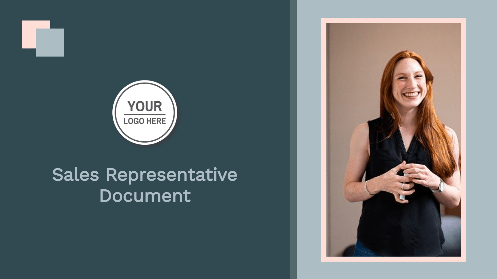 The sales representative document template is for salespeople or small business owners who want to give their clients a professional-looking and well-thought-out resume with an offer. This template is a good place to start if you want to send a professional-looking document to your clients. Use this template by clicking on it and begin editing right away. It should take no more than 15 minutes.