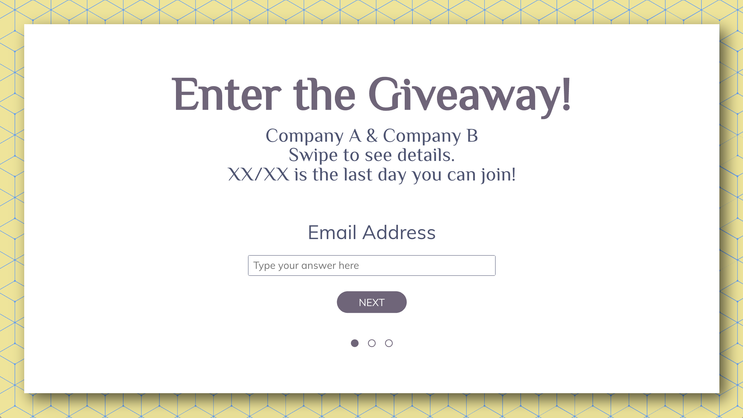 Hosting giveaways are the best way to increase engagement and find the audience who really wants your product/service! This way, you can expand your mail list and give people additional offers.