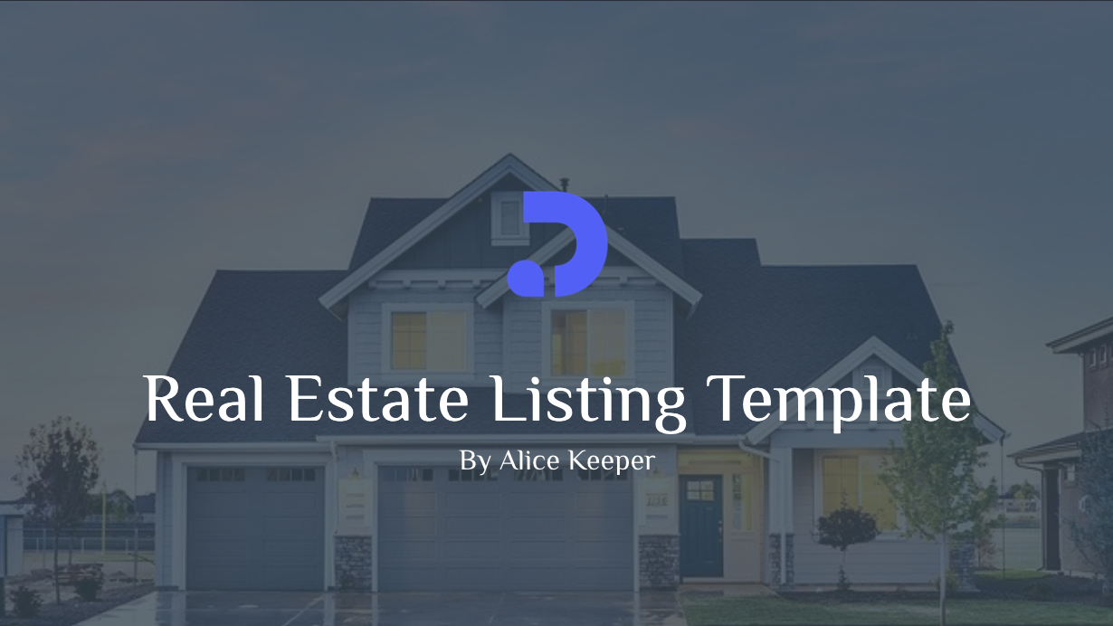 Real estate listing template for private real estate agents. This template enables you to introduce your listings to prospects that are interested and collect feedback.