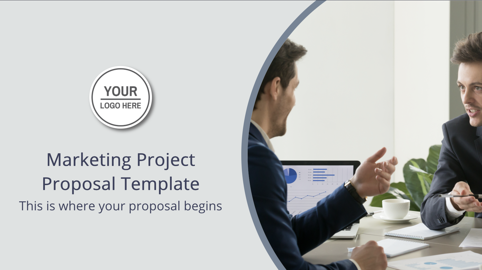 This marketing project proposal will cover all important bullet points of a project proposal. Just copy this deck to your dashboard to start editing with only one click.
