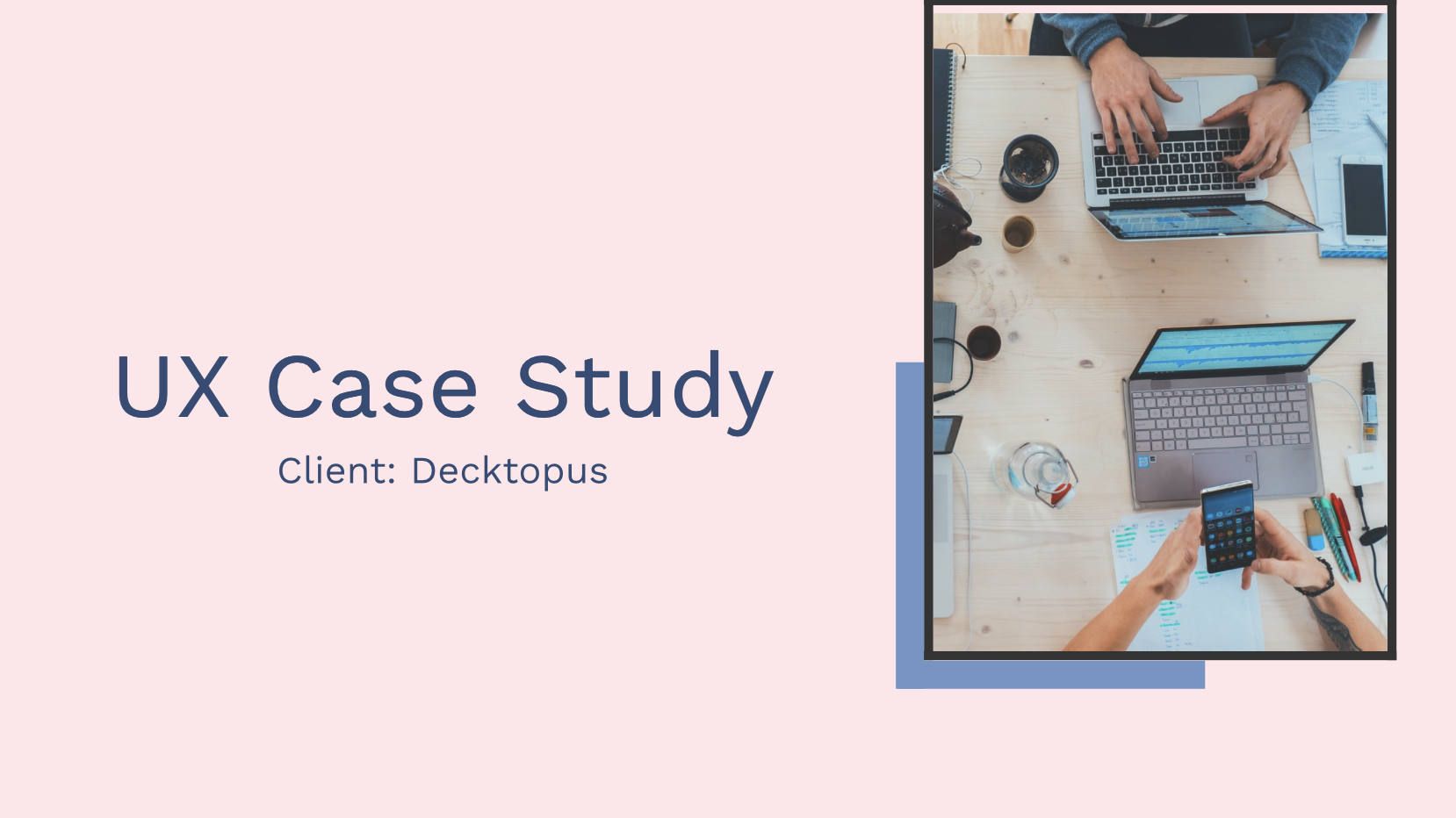 With UX Case Study Template on Decktopus you can create your portfolio quickly and easily. There are over 50 templates to choose from and they have a professional-looking layout that makes it easy for novices that don't know how to use Powerpoint or other complex softwares without feeling lost.