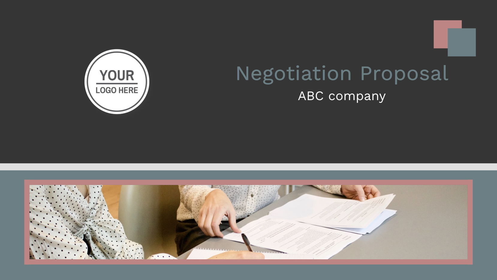 A negotiation proposal is a document that can be used to report a negotiation offer to a customer or to a supervisor. The negotiation proposal should provide an easy-to-understand agreement with all specifics in both cases. This proposal template is a good starting point when creating a sales-related document for salespeople. Start working on your document right away!