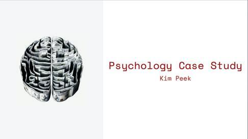 Psychology Case Study Template