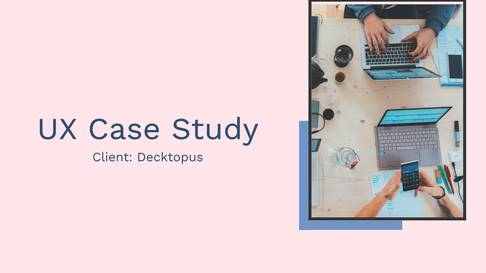 UX Case Study Template