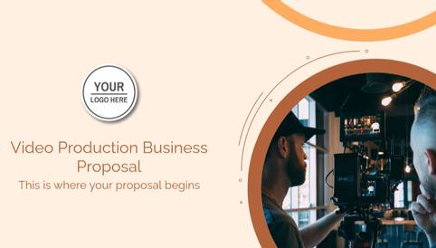 Video Production Business Proposal Presentation Template