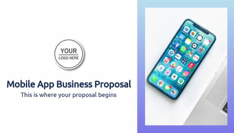Mobile App Business Proposal Presentation Template