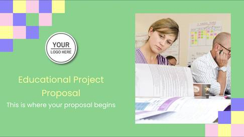 Educational Project Proposal Presentation Template