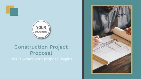 Construction Project Proposal Presentation Template