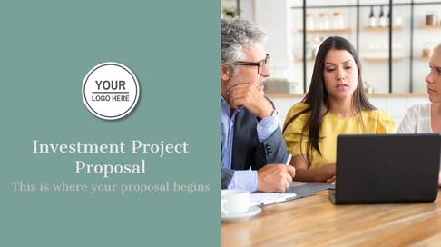 Investment Project Proposal Presentation Template