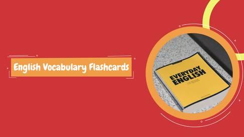 English Vocabulary Flashcards Template