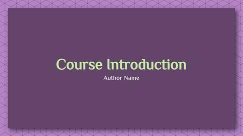 Online Class Template