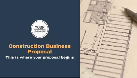 Construction Business Proposal Presentation Template