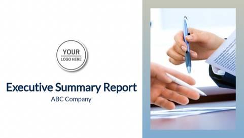 Executive Summary Report Presentation Template