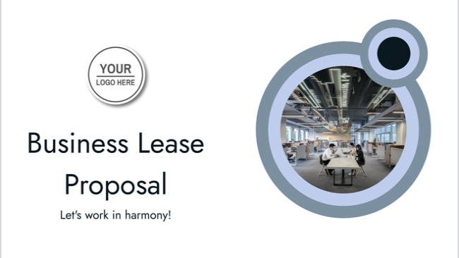 The Business Lease Proposal Template closes the deal. This pre-packaged template is professional and designed for speed. Change branding on the fly to fit any type of client. Close faster with this creative, helpful proposal presentation template.