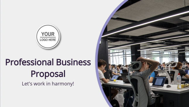 If only the hardest part about business proposals is figuring out what to say - the rest can be such a headache. Now there's hope! A beautifully designed, unbranded presentation that lets you take care of those pesky words with style and ease. Simply fill it in, Decktopus styles it for you! It's a complete one-stop shop for your next proposal - so grab yours today.