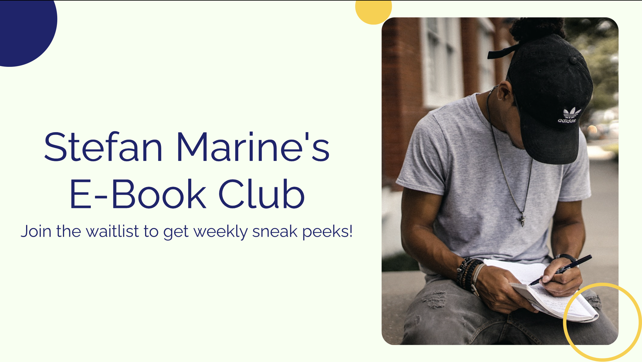 It's not enough to publish an e-book if people don't know it exists; why not join in on all of the interview posts I see when they talk about launch days? With this product, you'll be able to build a waitlist and get pre-sale before publishing your e-book!