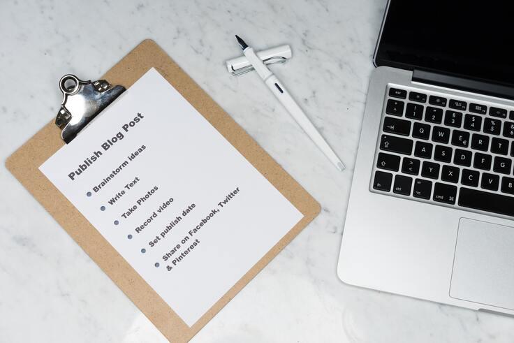 Publishing a blog post checklist