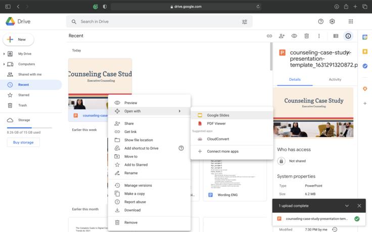 Convert PPT to Google Slides Step 6