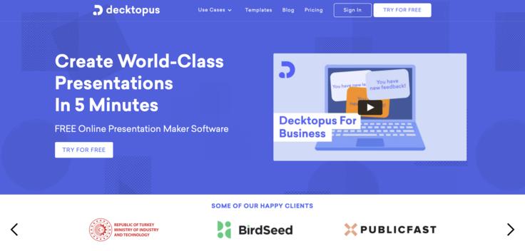 Decktopus, Modern Presentation Tool