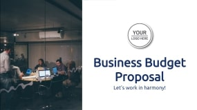 Business Budget Proposal Template