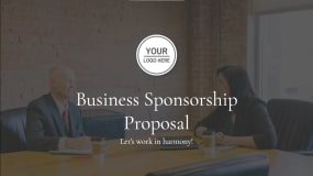 Decktopus offers you a business sponsorship proposal template that showcases your work in minutes. Creative content preparation gets you started, or fill in the gaps with samples. It's best to design visuals into Decktopus that automatically reflect client branding for quick and easy adjustments across any presentation style. Fastest way ever to create presentation that closes deals!