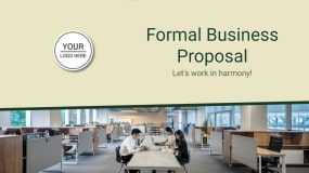 Formal Business Proposal Template