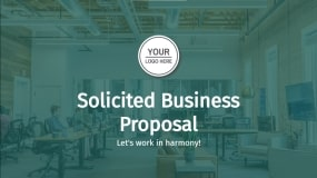 Solicited business proposal template