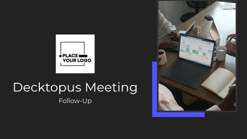 Sales executives will be impressed with the modern design and sleek edits that Decktopus has to offer. This sales follow up presentation is a great marketing tool for those who want to sign new clients quickly.