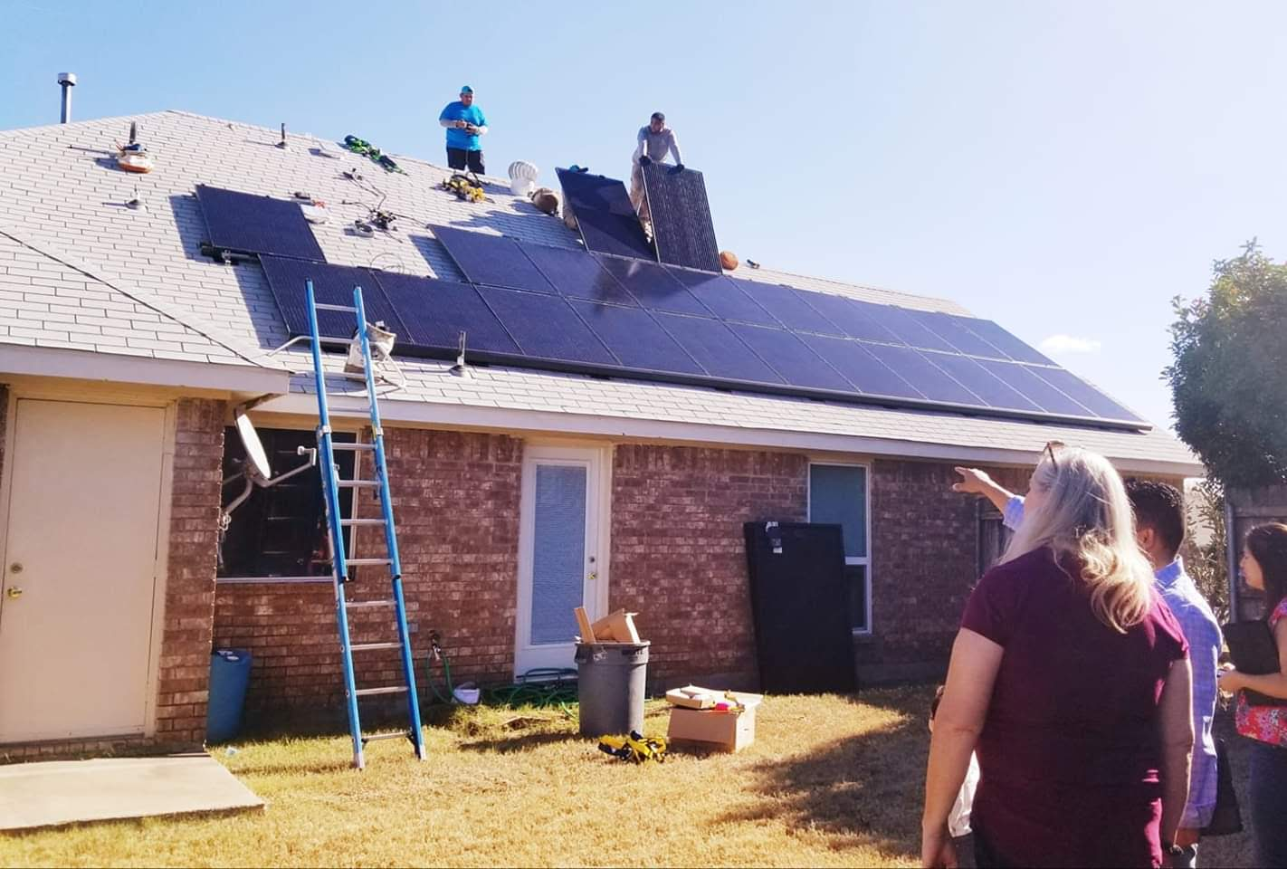 Sonovus energy residential solar array installation