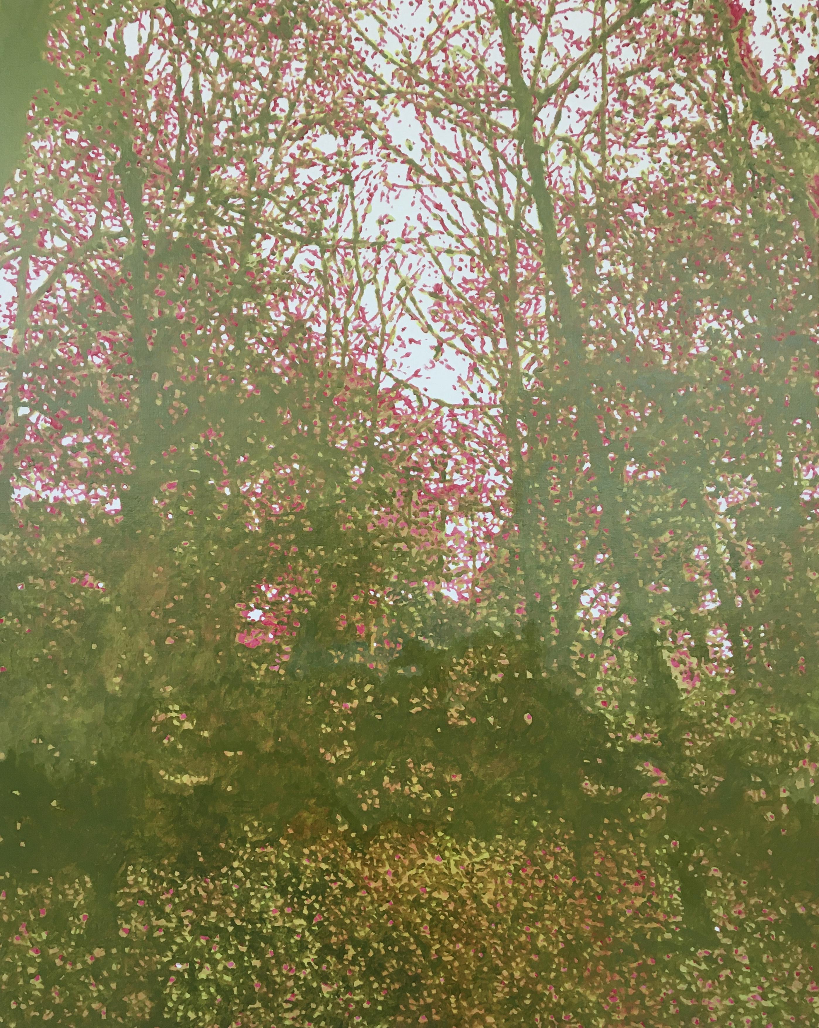 Verfvlekken in de vorm van een bos #3