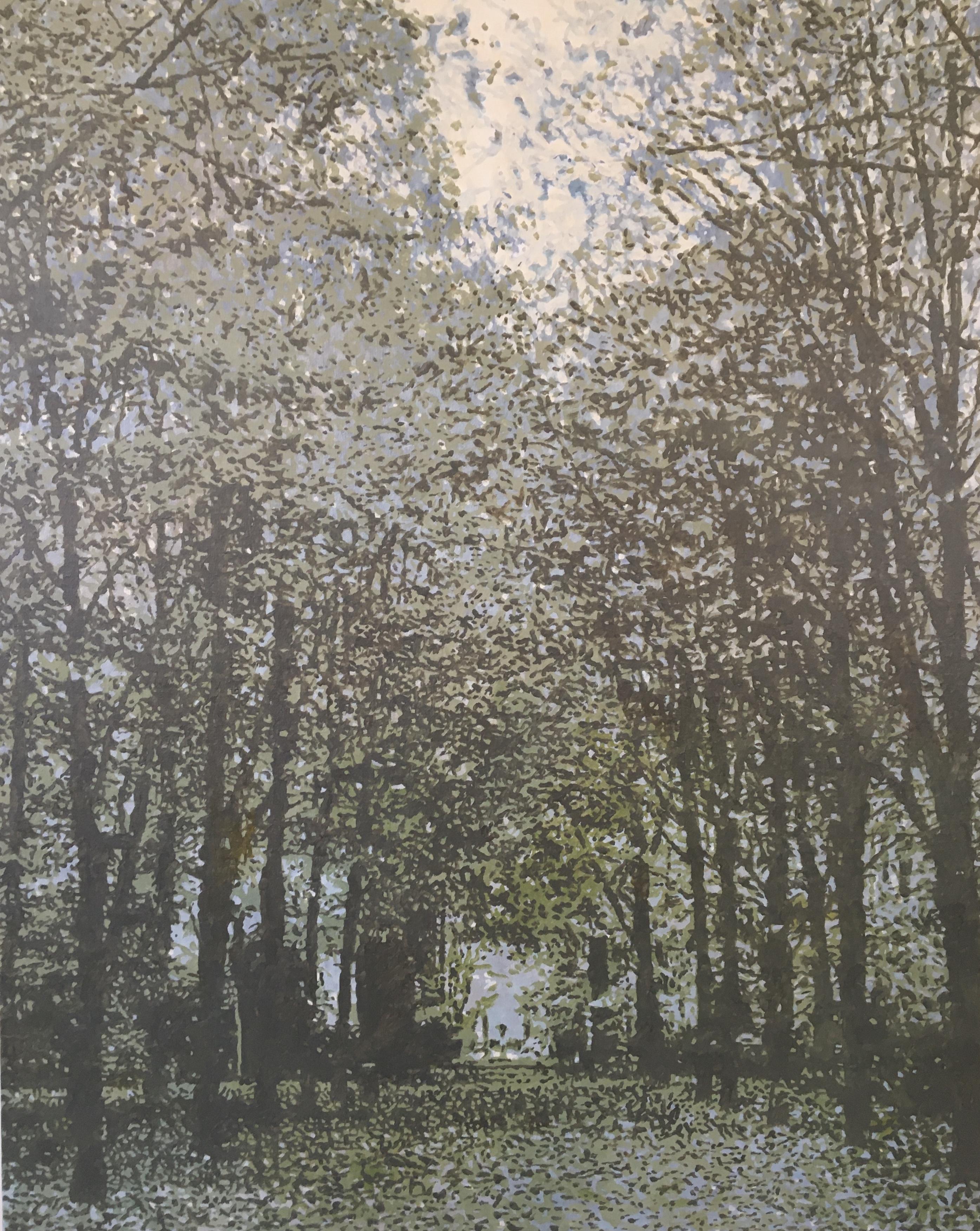 Verfvlekken in de vorm van een bos #4