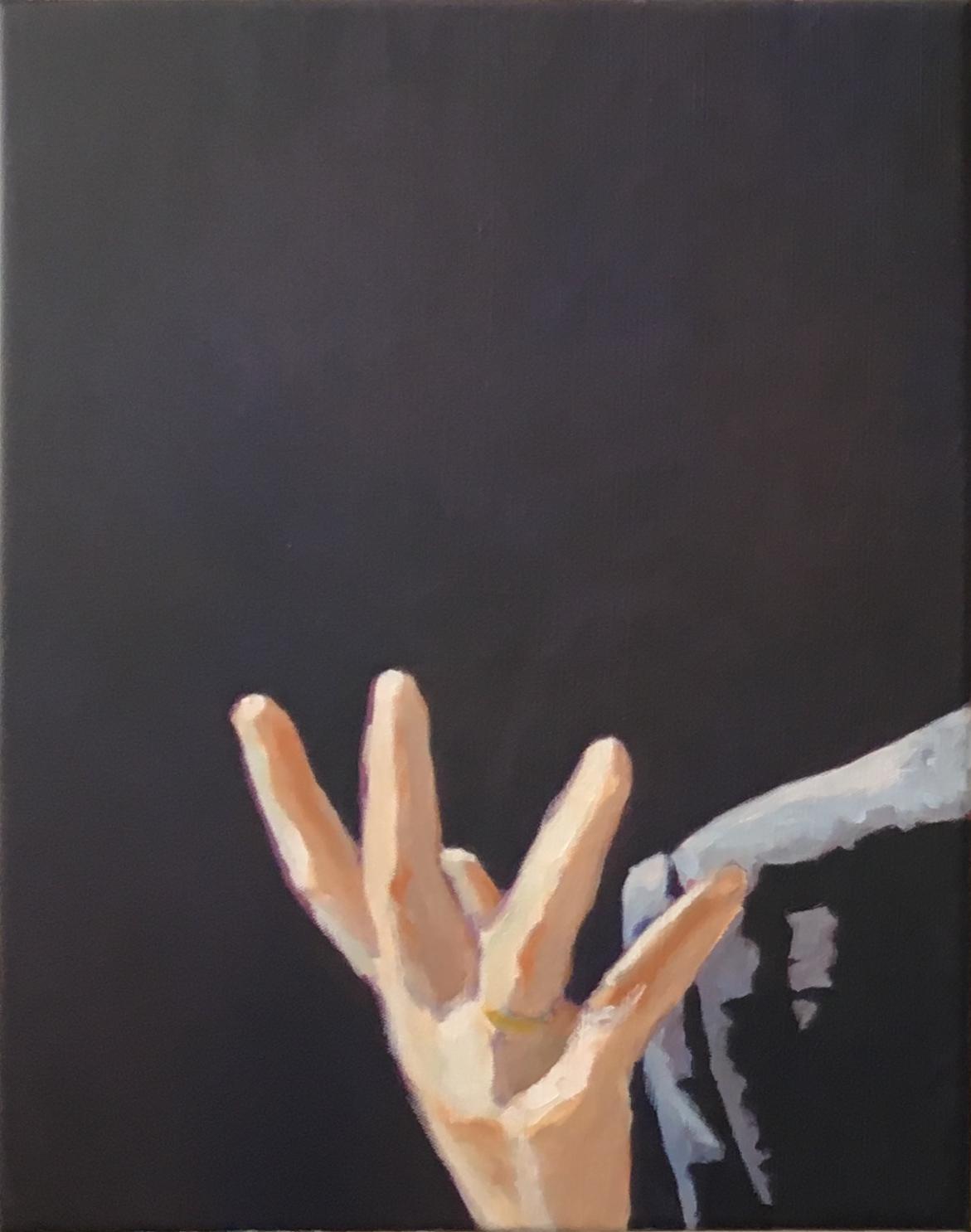 De handen van de pianist (links)