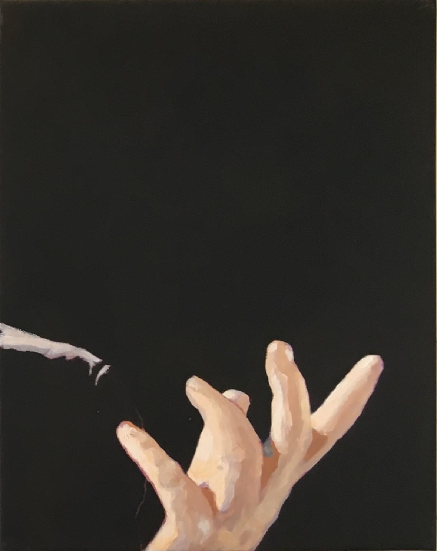 De handen van de pianist (rechts)