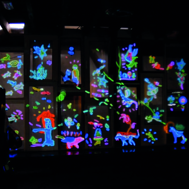 picture of Interactive installation of Vrijstaat Utrecht by light-up collective