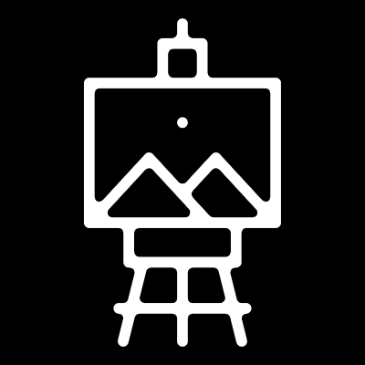 Icon for showing light-up collectives connection to art