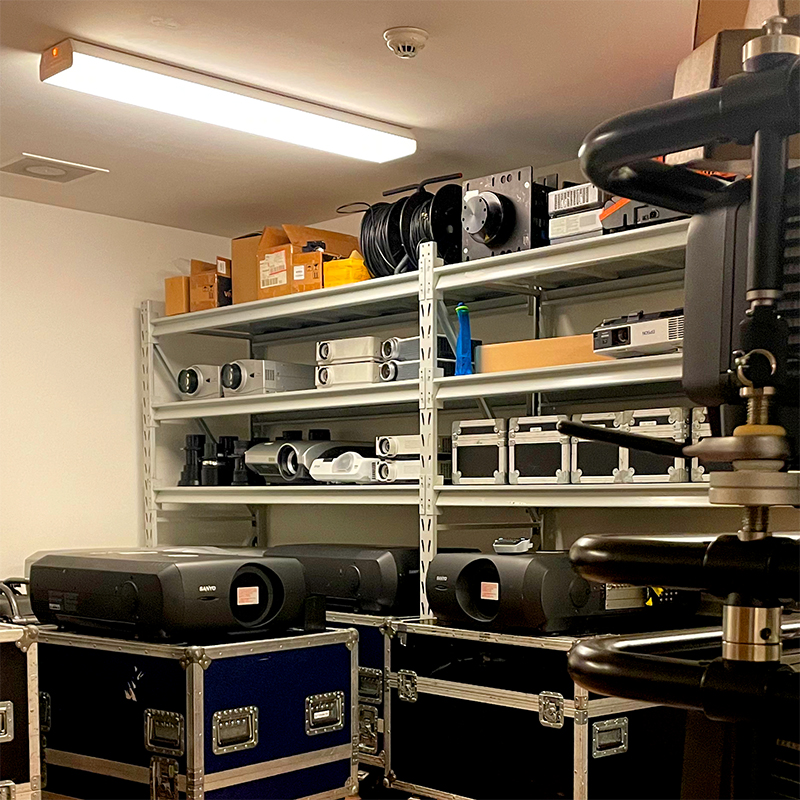 A picture showing the stock room of light-up collective