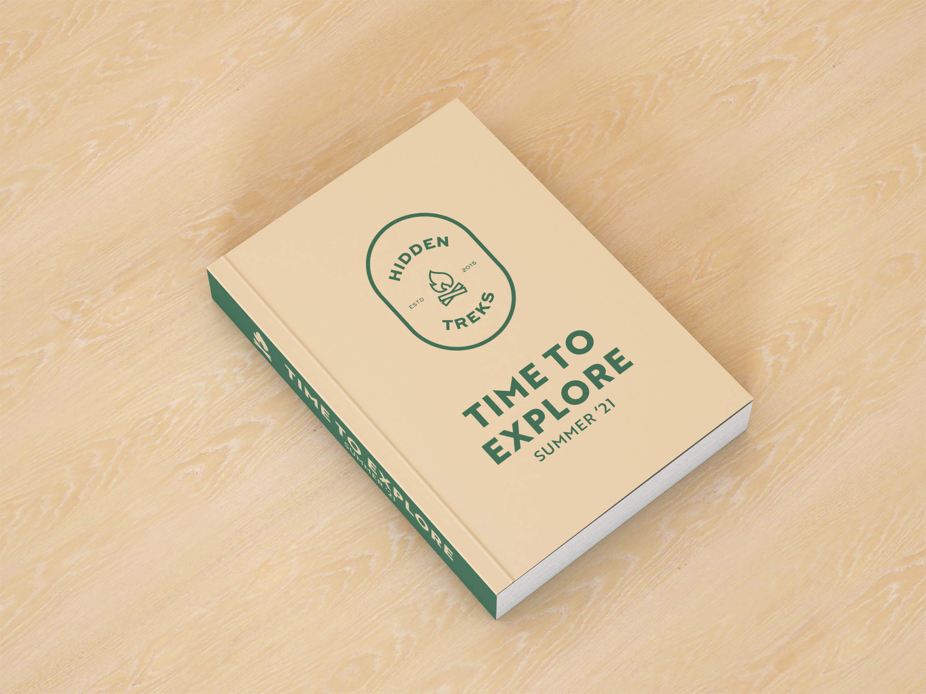 """A book titled """"Time to explore"""" on a wooden surface"""