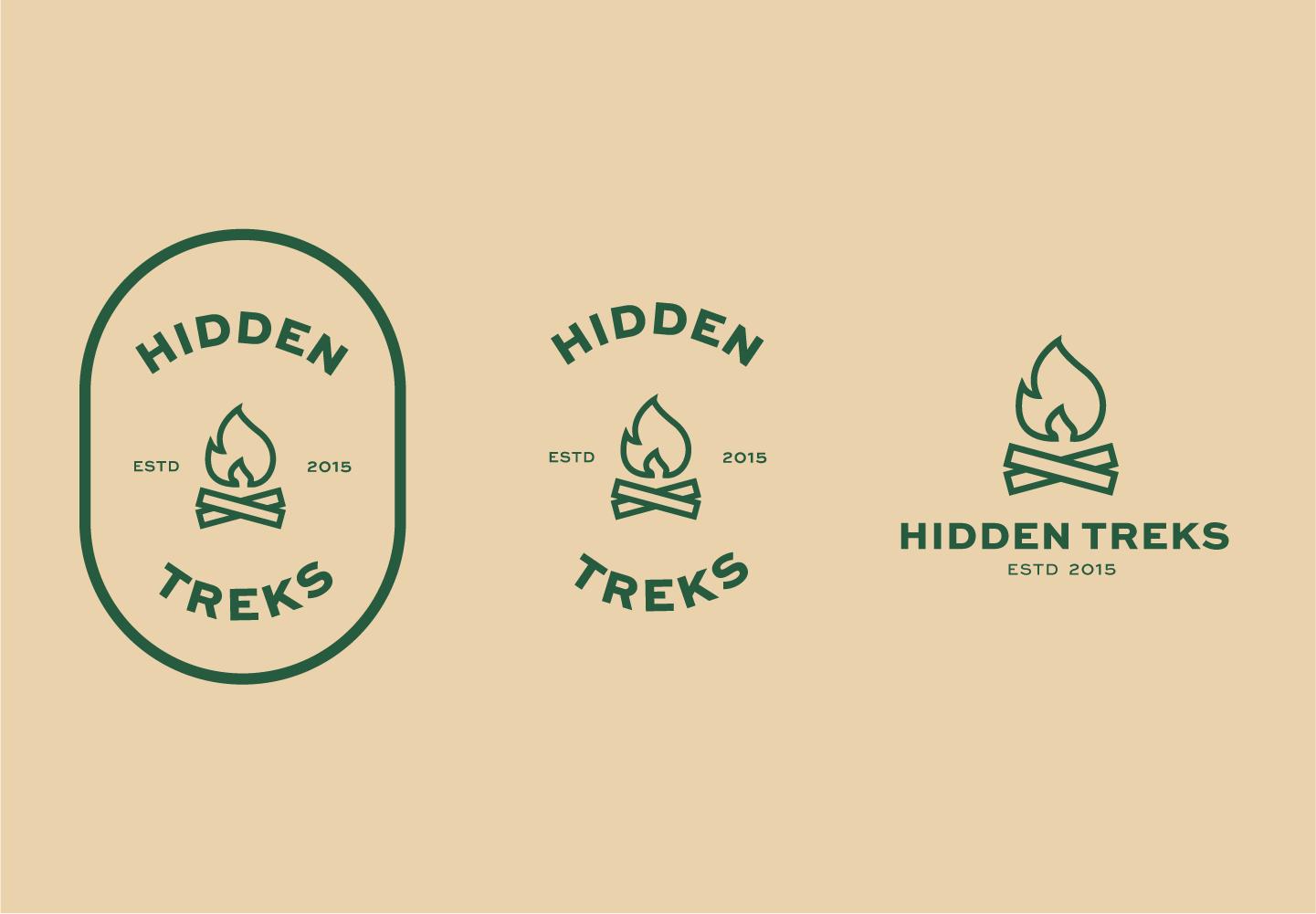 3 logos saying Hidden Treks