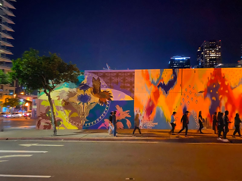 Mural grouping in downtown San Diego