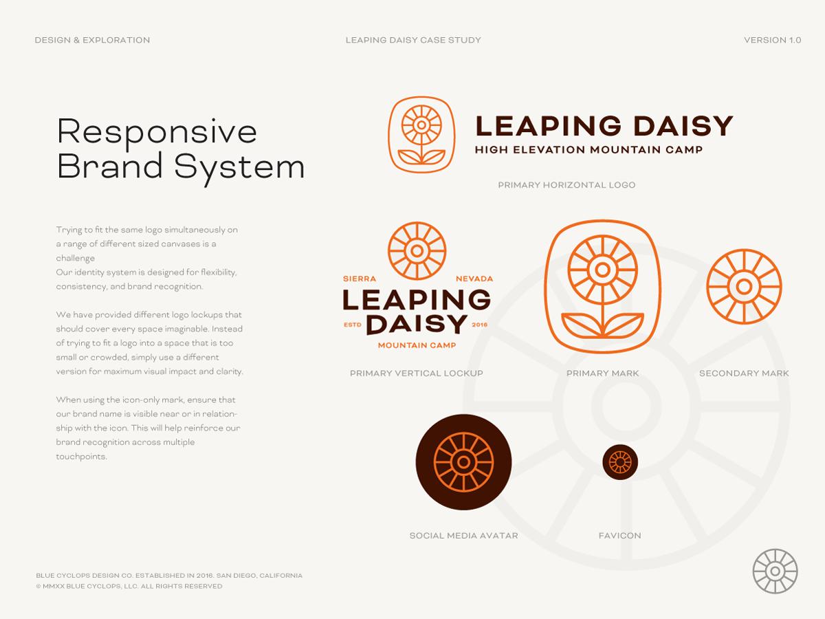 Leaping Daisy Responsive Branding