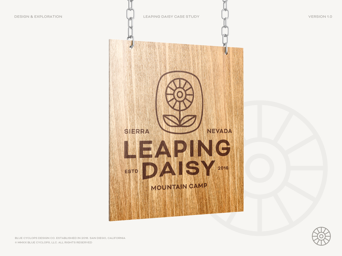 Mockup of a Leaping Daisy Sign
